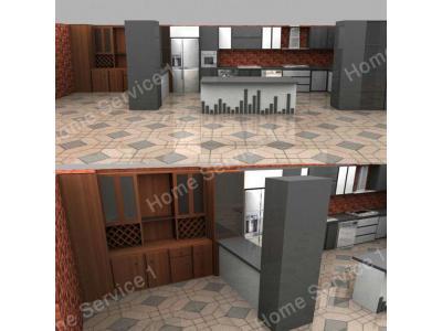طراحی اجرای دکوراسیون داخلی  ,  کابینت های آشپزخانه مدرن و کلاسیک