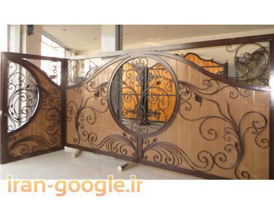 درب ویلایی چوب و فلز