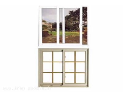 پنجره دو جداره دو حالته upvc تک لنگه بازشو از بالا و بغل