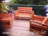 ساخت مبلمان آلاچیق نیمکت و لوازم چوبی