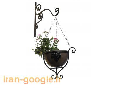 گلدان دیواری و ویندوباکس فرفورژه